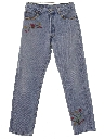 Mens Hippie Style Buttonfly Jeans Pants