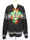 Unisex Multicolor Lightup Krampus Ugly Christmas Sweater