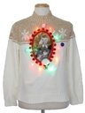 Unisex Vintage Multicolor Lightup Catmus Ugly Christmas Sweater