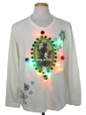 Unisex Vintage Multicolor Lightup Krampus Ugly Christmas Sweater