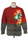 Womens Multicolor Lightup Krampus Ugly Christmas Sweater