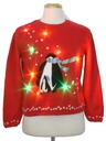 Womens Multicolor Lightup Ugly Christmas Sweater