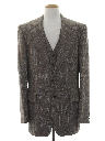 Mens Matching Disco Blazer Sport Coat Jacket And Vest