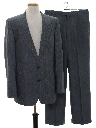 Mens Matching 2 Piece Wool Pinstriped Suit