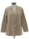 Womens Totally 80s Sweatshirt Cardigan Style Jacket