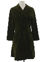 Womens Mod Suede Coat Dress