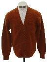 Mens Mod Cardigan Golf Sweater