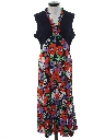 Womens Pow Flower Maxi Hippie Dress