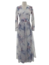 Womens Pow-Flower Maxi Dress