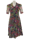 Womens Totally 80s Floral Dress