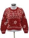 Womens Totally 80s Snowflake Ski Sweater