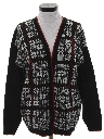 Womens Totally 80s Snowflake Ski Cardigan Sweater