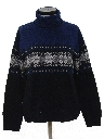 Womens Vintage Snowflake Ski Sweater