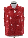Womens Snowflake Sweater Vest