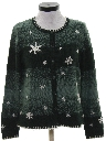 Womens Snowflake Sweater
