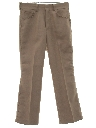 Mens Polyester Flared Jeans Cut Pants