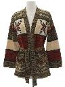 Womens Vintage Snowflake Hippie Sweater