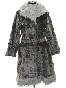 Womens Velvet Car Coat Jacket