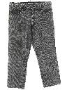 Mens Acid Washed Tapered Cropped Designer Denim Jeans Pants