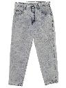 Mens Acid Washed Denim Jeans Pants