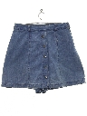 Womens Wicked 90s Denim Skort Shorts