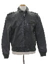 Mens Leather Members Only Style Jacket