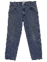 Mens Tapered Leg Denim Jeans Pants