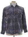 Mens Faded Grunge Western Shirt