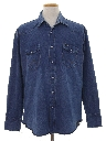 Mens Rodeo Style Denim Western Shirt
