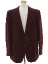 Mens Ron Burgundy Style Disco Blazer Sport Coat Jacket
