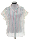 Womens Totally 80s Semi Sheer Shirt