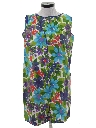 Womens Pow-Flower Hippie Mini Shift Dress