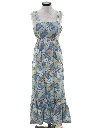 Womens Hippie Halter Maxi Dress