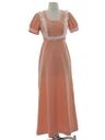 Womens Mod Knit Maxi Prairie Style Dress