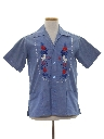 Mens Guatemalan Denim Hippie Shirt