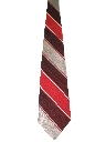 Mens Wide Diagonal Striped Disco Necktie