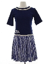 Womens Mod Wool School Girl Dress