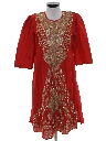 Womens Ethnic Hippie Cocktail Dress