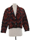 Womens Totally 80s Tapestry Cloth Jacket
