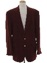 Mens Burgundy Blazer Sport Coat Jacket