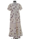 Womens A-Line Maxi Hippie Dress