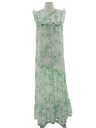 Womens Hawaiian Maxi Dress