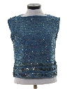 Womens Sequined Cocktail Sweater