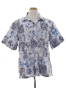 Mens Totally 80s Reverse Print Hawaiian Shirt
