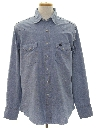 Mens Western Style Chambray Shirt