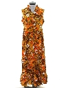 Womens Mod Hawaiian Maxi Dress
