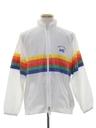 Mens Totally 80s Rainbow Wind Breaker Jacket