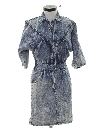 Womens Totally 80s Acid Washed Mini Denim Dress