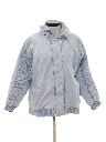 Womens Acid Washed Denim Jacket