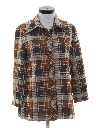 Womens Plaid Leisure Jacket